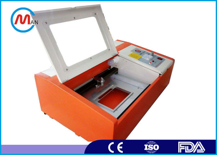 Small Size Stamp Rubber Mini Laser Cutting Machine For Acrylic , Crystal , Glass