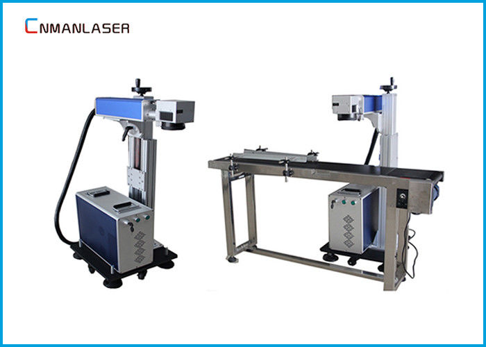 110*110mm Leather Cloth Flying CO2 Laser Marking Machine 20w 30w