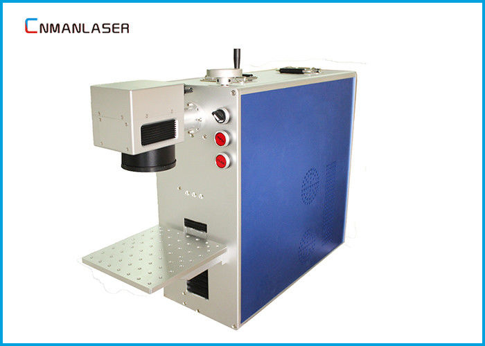 Mini 20W Fiber Metal Laser Marking Machine For Metal Printed Circuit Chip Mobile Phone Shell