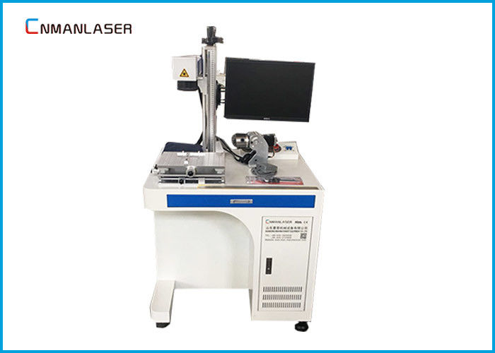 Precision Positing 0.01mm Portable Laser Marking Machine Energy Efficiency With Rotary Devices