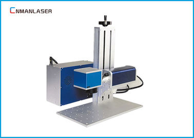 China Air Cooling Mini Bamboo Wood Nonmetal Metal Laser Marker Machine 20w 30w 50w factory