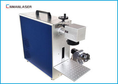 China 20w Alloy Pipes Metal Laser Marking Machine With Rotary Devices , Free Maintenance factory